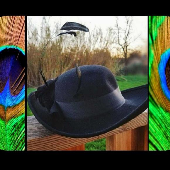 e1c312a48 Vintage Black 50's Bollman Peachfelt Starlet Hat